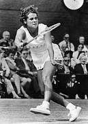 Athlete Framed Prints - Evonne Goolagong (1951- ) Framed Print by Granger