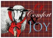 Sheep Mixed Media - Ewe Tidings of Comfort and Joy by Carrie Jackson
