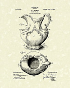 Breakfast Drawings Prints - Ewer or Jug Design 1900 Patent Art Print by Prior Art Design