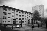 Council Framed Prints - Ex-council Glasgow Housing Association Flats And Tower Block Cowcaddens Glasgow Scotland Uk Framed Print by Joe Fox