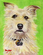 Dog Portrait Posters - Example of Pet Portrait Poster by Sheila Kinsey