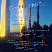 Usaf Photo Posters - Excellence Poster by Mitch Cat