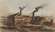 Ironworks Framed Prints - Excelsior Iron Works On New York Citys Framed Print by Everett