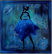 Evening Dress Mixed Media Framed Prints - Exceptional Lady Framed Print by Heather Saulsbury