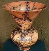 Decor Ceramics - Exceptional Large Tinted Horsehair Pottery Urn by Rob Drexel