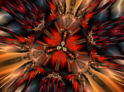 """digital Abstract"" Prints - Excitement in Red Print by Claude McCoy"