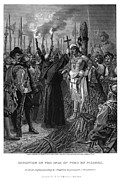Bound Framed Prints - Execution Of Atahualpa Framed Print by Granger