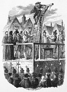 Cruikshank Posters - Execution Of Guy Fawkes Poster by Granger
