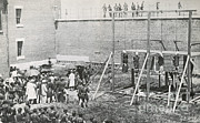Abraham Lincoln Prints - Execution Of The Booth Conspirators Print by Photo Researchers