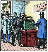 World Series Prints - Exhibition Of Bells Telephone, 1876 Print by Cci Archives