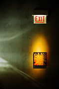 Exit Sign Framed Prints - EXIT for Alice Framed Print by Philip Sweeck