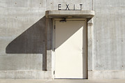 Building Mixed Media Metal Prints - Exit Metal Print by Mike McGlothlen