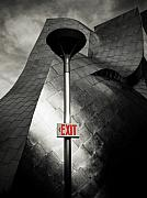Exit Sign Framed Prints - Exit Mundo Framed Print by Marius Sipa