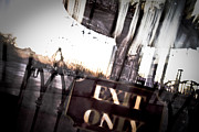Modern Day Ruins Prints - Exit Only Print by Pixel Perfect by Michael Moore