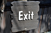 Exit Sign Framed Prints - Exit sign. Framed Print by Fernando Barozza