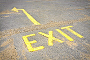 Gravel Road Photos - Exit sign by Tom Gowanlock