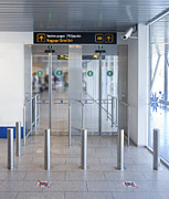 Airport Concourse Prints - Exit to a Baggage Claim Print by Jaak Nilson