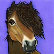 Pony Painting Posters - Exmoor Pony  Poster by Leanne Wilkes