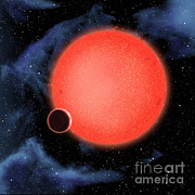 Exoplanet Photos - Exoplanet Gj 1214b Illustration by NASA / European Space Agency