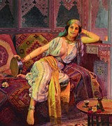 Orientalist Painting Posters - Exotic  Beauty Poster by Pg Reproductions
