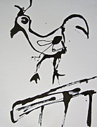 Ledge Drawings Originals - Exotic Birds  by Esther Anne Wilhelm Pridgen