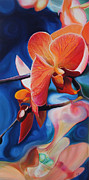 Exotic Orchid Art - Exotic Botanics by Karen Hurst