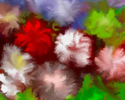 Posters On Digital Art - Exotic Flowers by Elva Kimble
