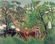 Exotic Landscape Print by Henri Rousseau