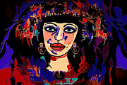 Gorgeous Women Mixed Media Posters - Exotic Woman Poster by Natalie Holland