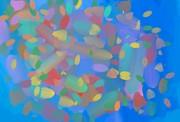 Expanding Galaxy Print by Naomi Susan Schwartz Jacobs