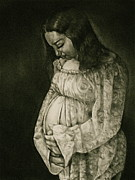 Mother Drawings - Expecting by Curtis James