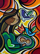 Birds Paintings - Expecting by Mary Tere Perez