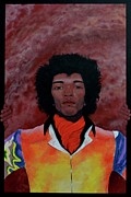 Jimmy Hendrix Paintings - Experience by Drew Spence