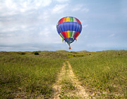 Balloon Digital Art Prints - Exploration  Print by Betsy A Cutler East Coast Barrier Islands