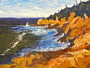 Wash Painting Originals - Exploring on the Rocks  by Pamela  Meredith