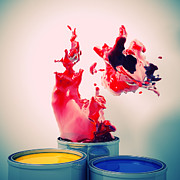 Paint Splash Photos - Explosion Of Colour by Gualtiero Boffi