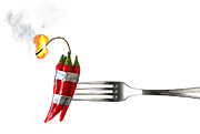 Fiery Prints - Explosive Food Print by Carlos Caetano