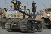 Baghdad Posters - Explosive Ordnance Disposal Robot Used Poster by Stocktrek Images