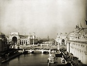 Columbian Exposition Posters - Exposition Grounds At The 1893 Worlds Poster by Everett