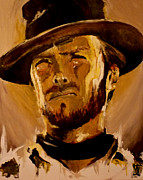 Icons Prints Painting Prints - Expression Of Eastwood Print by Matt Laseters BZRROindustries