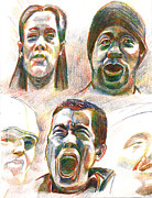 United States Of America Drawings Originals - Expressions by Al Goldfarb