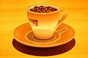 Drink Digital Art Originals - Expresso.Piccolo.ARANCIONE by Robert Litewka