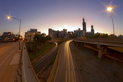 Chicago Skyline Photos - Expressway Streaks by Sven Brogren