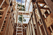 Frame House Photos - Extension Ladder and Framing by Skip Nall