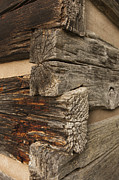 Splitting Prints - Exterior Corner of a Wooden Building Print by Will and Deni McIntyre