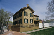 Historical Housing Prints - Exterior Of President Abraham Lincolns Print by Paul Damien