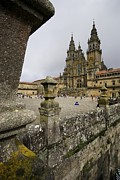 Galicia Photo Prints - Exterior View Of A Gothic Cathedral Print by Jim Richardson