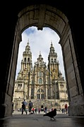 Galicia Photo Prints - Exterior View Of A Gothic Cathedrals Print by Jim Richardson