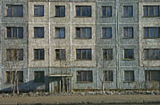 Apartment Houses Prints - Exterior View Of Typical Depressing Print by Klaus Nigge