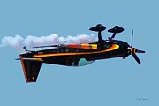 Extra 300s Stunt Plane Print by DigiArt Diaries by Vicky B Fuller